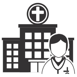 image of a doctor outside a hospital