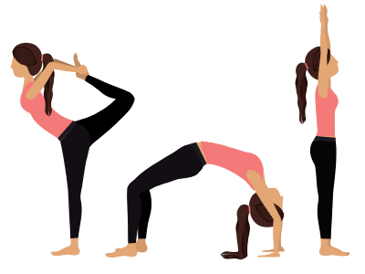 image of girls in various postures