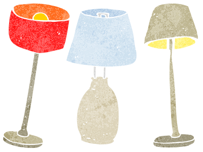 image of three lamps