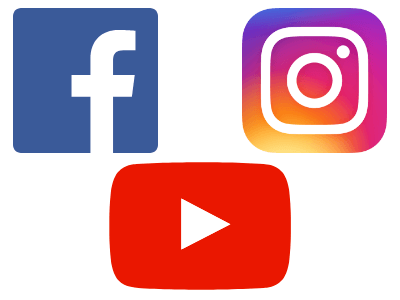image of facebook, youtube, and instagram icons