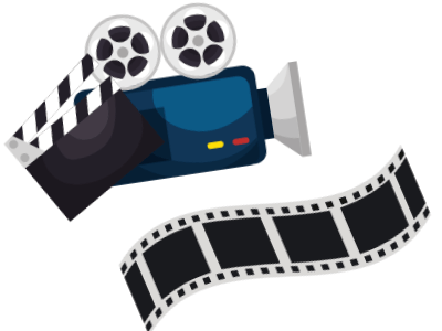 image of a video camera and film