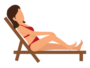 image of a woman in a beach chair
