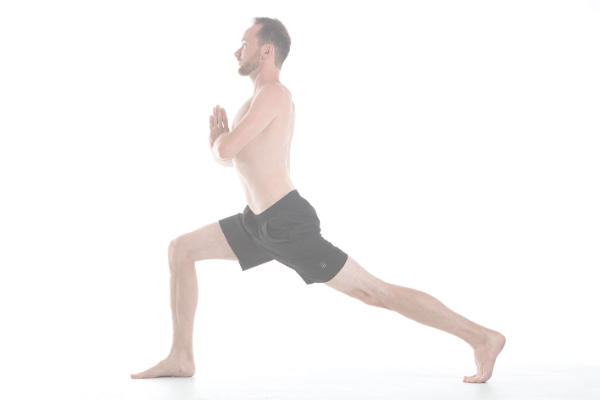 Image of beginner yoga pose - lunge