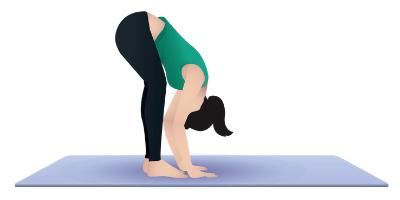 image of lady doing forward fold
