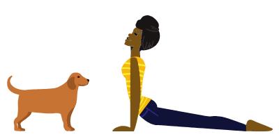 image of woman doing upward facing dog